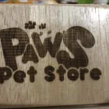 Paws Pet Store Logo