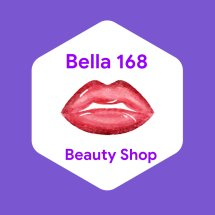 Bella 168 beauty shop Logo