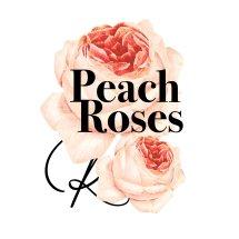 Logo Peach Roses