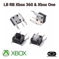 Tact Switch Tombol LB RB Bumper Xbox 360 Wired Dan Wireless
