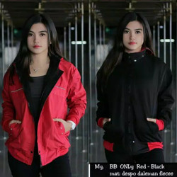 Jaket Parasut Wanita Bomber Parka Bolak Balik BB Only Trend Merah