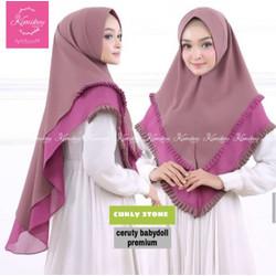 GROSIR Hijab Kimikey Khimar CURLY TWO TONE / Jilbab Kerudung Insant