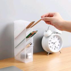 Akrilik Tempat Alat Tulis / Box Rak Stationary Stand Organizer Acrylic - Putih