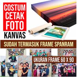 COSTUM Cetak Foto Kanvas/Canvas Photo Print 60 x 90