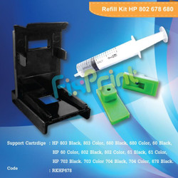 Refill Kit HP 682 680 Tollkit Penyedot Tinta Cartridge 803 GT51 GT52