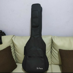 Tas gitar junior 3/4 busa tebal 8mm Merek DR MUSIC/SEMI HARDCASE