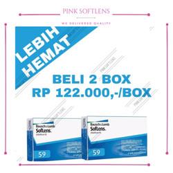 Bausch and lomb softlens bening transparan bulanan (monthly) sensitif