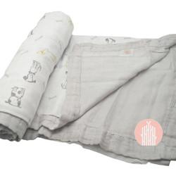 Muslin Blanket 70%bamboo 30% cotton-dog