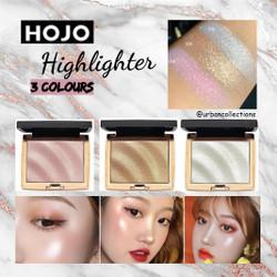 HOJO Highlighter Pallette Glitter Highlighter Make up Shimmer Bronzer - 02 Golden