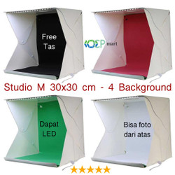 Mini Photo Studio Box SIZE M portable lampu LED kotak foto produk