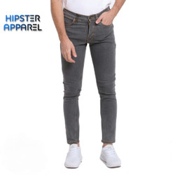 HIPSTER Celana panjang jeans pria warna GREY / ABU