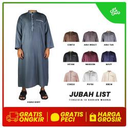 Jubah Pria Zein / Jubah Gamis Pria / GRATIS Peci Rajut