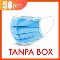 MASKER 3 PLY MASKER 3PLY SURGICAL MASK ISI 50pc izin BNPB - TANPA BOX