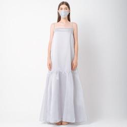 ATELIER MODE Cocktail Dress Japanese Organza Snow Maxi Dress Wanita