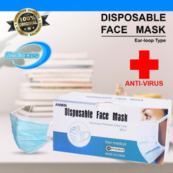 Masker 3Ply Medis Bedah 3 Ply Earloop Surgical / Disposable Mask 3 Ply