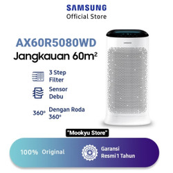 SAMSUNG AIR PURIFIER AX60R5080WD 60 m2 with 3 Way Airflow