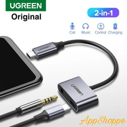UGREEN Adaptor Port USB Type C ke 3.5 mm 2in1 Multi Function Splitter