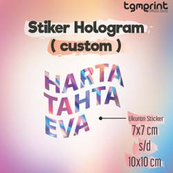 STIKER HARTA TAHTA MURAH   STIKER HOLOGRAM   STIKER MURAH - 10 x 10