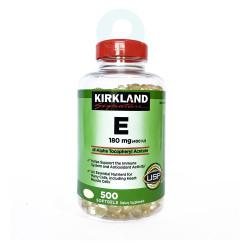 Kirkland Signature Vitamin E 180 mg 500 Softgels