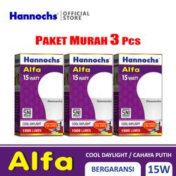 Hannochs Lampu LED Alfa 15 watt CDL 3 pcs - Putih