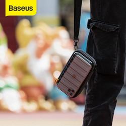 BASEUS STORAGE BAG GADGET ELECTRONIC ORGANIZER POUCH TAS TANGAN DOMPET - Hitam