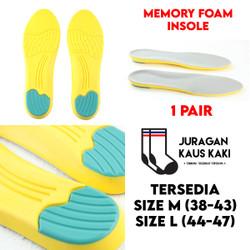 Memory Foam Insole Sepatu Shoe Pad Empuk Sneakers Sport - L 44-47