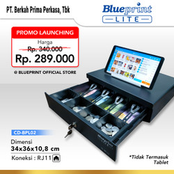 CASH DRAWER / LACI KASIR / LACI UANG BLUEPRINT CD-BPL02 34x36x10,8 Cm