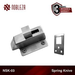 NOBLEZA NSK-03 Spring Knive Knip Slot Kunci Jendela Stainless
