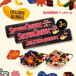 SilverQueen Dark Choc x Liunic (isi 3 + FREE masker Liunic)