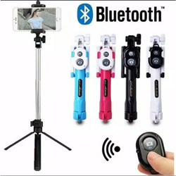 tongsis 3in1 tripod tomsis tombol bluetooth holder handphone