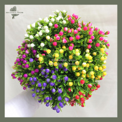 Artificial Flower Small Rice Flower White Pink bunga palsu plastik