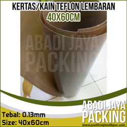 kertas teflon alas press mesin sealer kain tahan panas