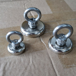 Magnet Neodymium Hook O Diameter 25mm 35mn 42mm stainless 304 Super