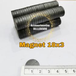 Magnet Hitam / Magnet Kulkas / coin disc tempelan 18 x 3mm (2 sisi)