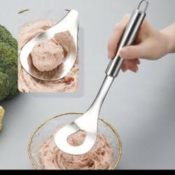 alat pembuat bakso sendok stainless cetakan meat ball maker mold dapur
