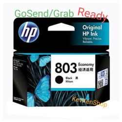 HP 803 ORIGINAL Black ink Catridge tinta hitam 1111 1112 2131 2132