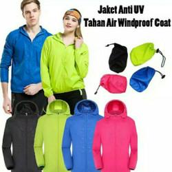 Jaket Olahraga IMPORT Anti Sinar UV / Anti Air Unisex Pria dan Wanita - Biru tua