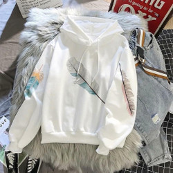 One Feather Jaket Hoodie/Korean Style/Outerwear Kasual