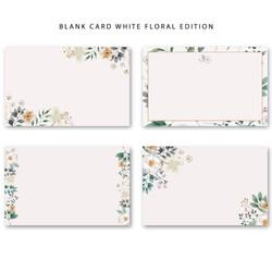 Blank Card Kartu Ucapan Kosong Greeting Cards Tag Floral Bunga Seasons