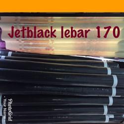 kain jetblack bonanza170 leuwitex hitam pekat grade A bahan abaya