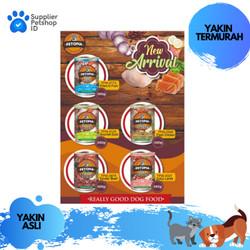 Makanan Anjing Basah Petopia 380gr Kelang Wet Dog Food Murah Lamb Beef
