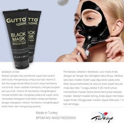 NATURE Masker Wajah Face Mask Natural Facial GUTTO Black Mask 100ml