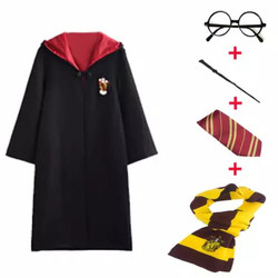 ORI Import Full Set HARRY POTTER Costume Jubah Cosplay Kostum - RED Gryffindor, Adult M