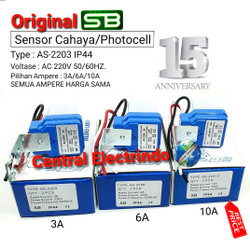 Sensor Cahaya Photo Foto Cell SB 3A/6A/10A (model Selcon).