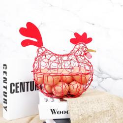 Mran XL | tempat penyimpanan telur ayam bebek kotak besi merah dapur