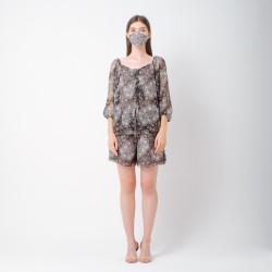 ATELIER MODE Loungewear Blouse and Shorts Mada Set Wanita