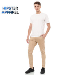 HIPSTER celana chino panjang pria warna CREAM KHAKI