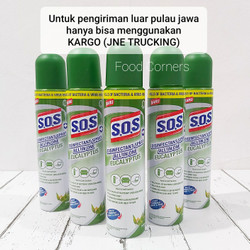 SOS Disinfectant Spray 250ml / SOS Spray All in One Eucalyptus
