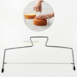 Cake Leveler Slicer Alat Pemotong Perata Kue Tart Stainless