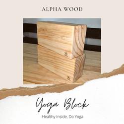 Wooden Yoga Block Brick / Balok Yoga Kayu / Balok Olahraga Kesehatan / - Tidak Sambungan